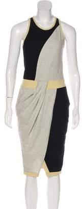 Helmut Lang Colorblock Wool Dress