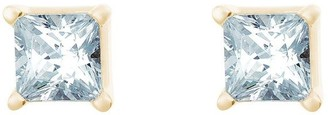 Affinity Diamond Jewelry Princess Diamond Stud Earrings, 14K Yellow, 1 cttw,by Affinity