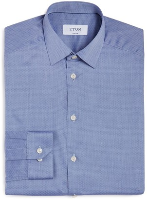 Eton of Sweden Extra Small Dot Slim Fit Dress Shirt $265 thestylecure.com