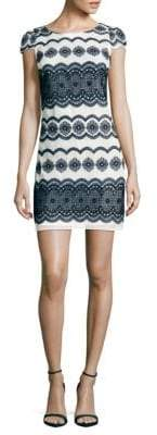 Julia Jordan Medallion-Print Dress
