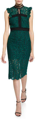 Bardot Latoya Lace High-Neck Cocktail Dress