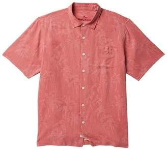 Tommy Bahama Digital Palms Classic Fit Silk Hawaiian Shirt (Big & Tall)
