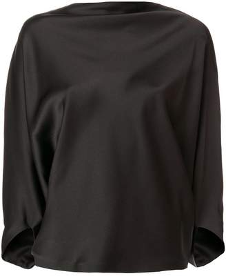 Chalayan draped satin top