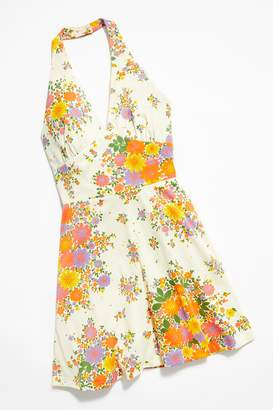 Vintage Loves Vintage 1980s Floral Halter Dress