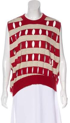 Alexander Wang Distressed Striped Sleeveless Sweater w/ Tags