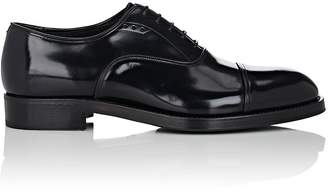Prada Men's Cap-Toe Spazzolato Leather Balmorals