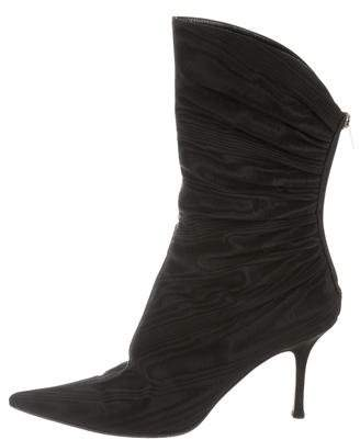 Jimmy Choo Ruched Moire' Boots