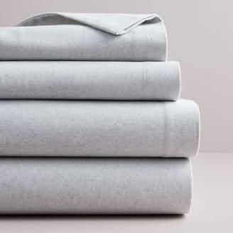 west elm Flannel Solid Sheet Set - Frost Gray