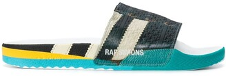 Adidas By Raf Simons faux lace-up slides