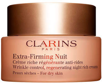 Clarins Extra-Firming Wrinkle Control Regenerating Night Cream - Dry Skin
