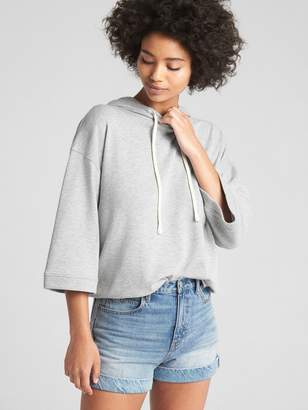 Gap Wide-Sleeve Pullover Hoodie in French Terry