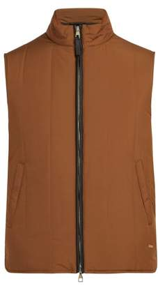 Dunhill Radial Padded Quilted Gilet - Mens - Brown Multi