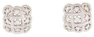 Diamond Basket-Weave Earrings