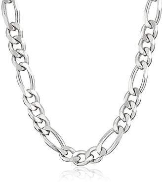 Men's Sterling Italian 4.60mm Solid Figaro Link-Chain Necklace