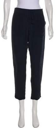 Calypso Silk Straight-Leg Lounge Pants