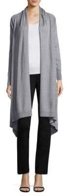 Donna Karan Heathered Open-Front Cardigan