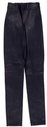 Joseph Leather Mid-Rise Skinny Leggings Indigo Leather Mid-Rise Skinny Leggings