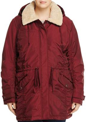 Andrew Marc Plus Nandie Sherpa Collar Parka