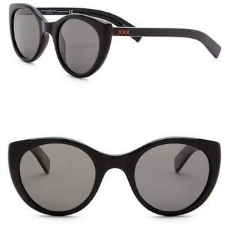 Ermenegildo Zegna 50mm Rounded Cat Eye Sunglasses