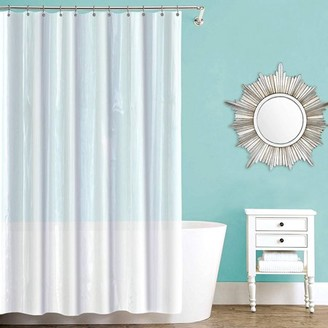 clear Splash Home Waterproof, Mold/Mildew Resistant, Premium Quality Vinyl Shower Curtain Liner for Bathroom Shower and Bathtub - 70 x 72, Frosty