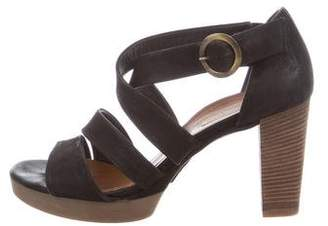 Paul Green Leather Crossover Sandals