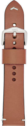 Fossil 22mm Tan Leather Watch Strap