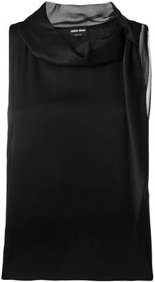 Giorgio Armani sleeveless fitted blouse