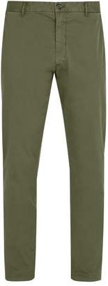J.w.brine J.W. Brine J.w. Brine - Owen Cotton Blend Chino Trousers - Mens - Green