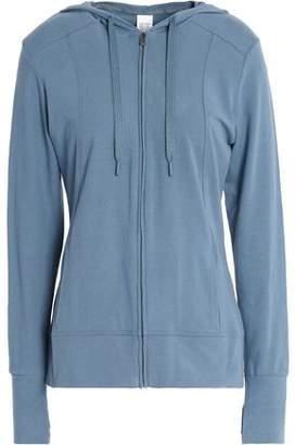 Calvin Klein Printed Cotton-blend Jersey Hooded Sweatshirt