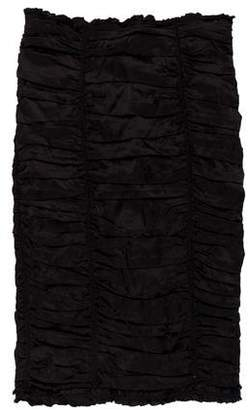 Dolce & Gabbana Silk Strapless Mini Dress