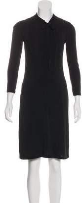 Burberry Knee-Length Long-Sleeve Dress