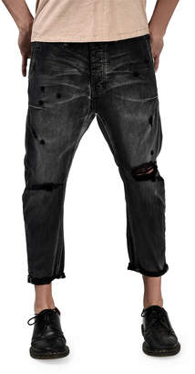 One Teaspoon Mr. Brown Distressed Jeans, Black Van