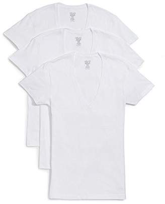 2xist Men's Essential Slim Fit Deep V Neck T-Shirts-3 Pack (020351)