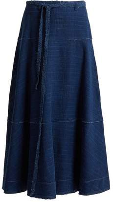 Elizabeth and James Leila A Line Denim Skirt - Womens - Indigo