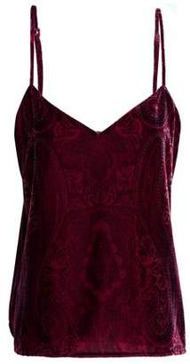L'Agence Printed Velvet Camisole