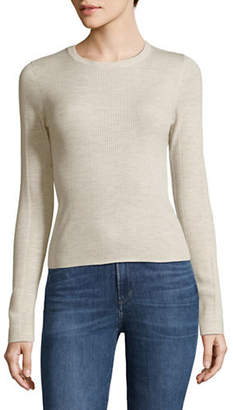Theory Refine Ribbed Merino Wool-Blend Top