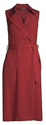 Lafayette 148 New York Women's Florance Sleeveless Wrap Shirtdress