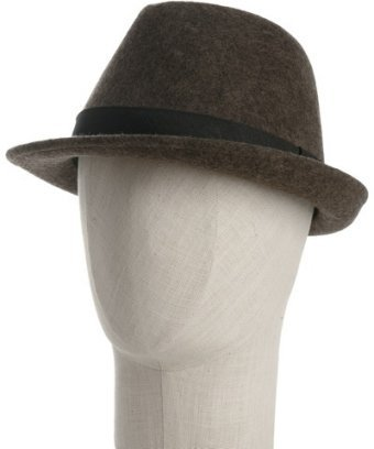 Grace Hats heather brown felt wool twill trim fedora