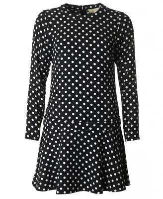 Michael Kors Polka Dot Fit And Flare Dress