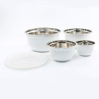 Cambridge Silversmiths 4-pc. Shiny White Bowl with Lid Set