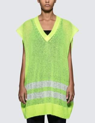 Maison Margiela Oversized Sleeveless Knit Pullover