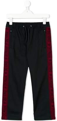 Dolce & Gabbana logo appliqués drawstring trousers