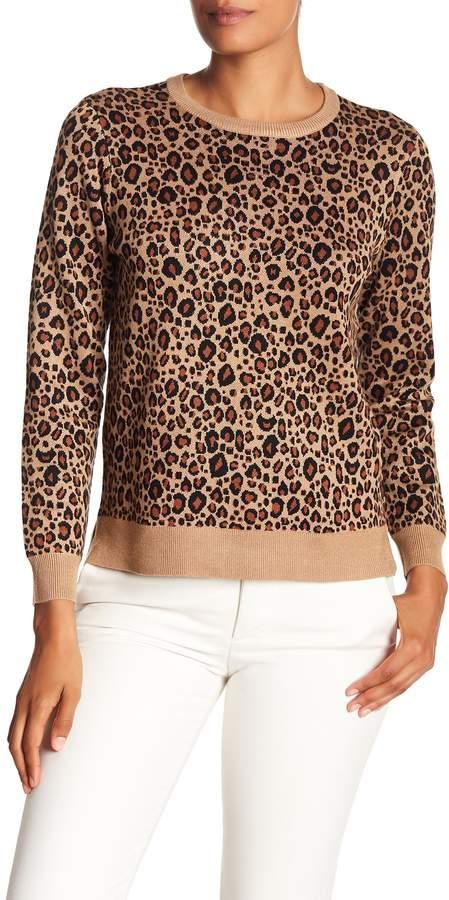 Philosophy Apparel Jacquard Leopard Sweater (Petite)