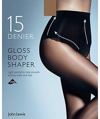 011042963 John Lewis   Partners 15 Denier Gloss Body Shaper Tights