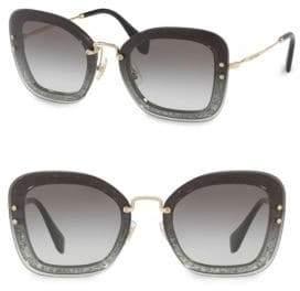 Miu Miu Injected Woman's 65MM Square Sunglasses