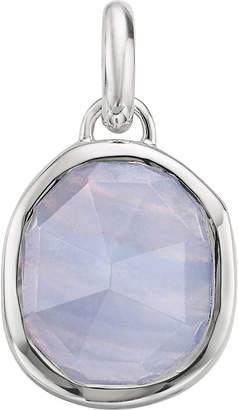 Monica Vinader Siren medium sterling silver and agate pendant