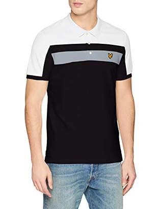 0cb913bab21 Lyle   Scott Men s Colour Block Polo Shirt (True Black 572)