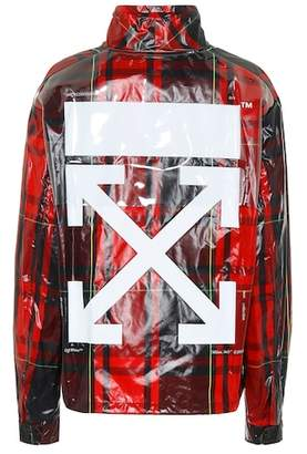 Off-White Coated plaid jacket