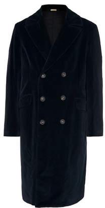Massimo Alba Double-Breasted Cotton-Velvet Overcoat
