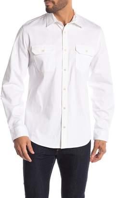 Calvin Klein Military Front Button Long Sleeve Shirt
